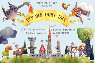 Old Old Fairy Tale - Watercolor Clip Art Set Graphic By mashamashastu