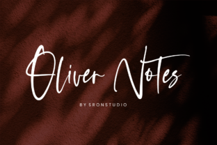Oliver Notes Font By Sronstudio
