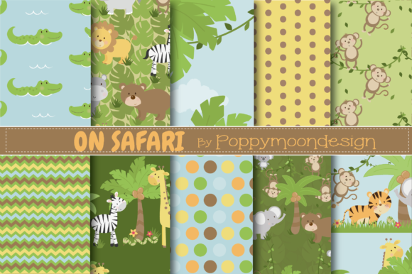 Print on Demand: On Safari Papers Graphic Patterns By poppymoondesign
