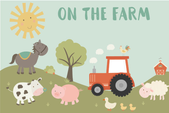 Print on Demand: On the Farm Graphic Illustrations By poppymoondesign