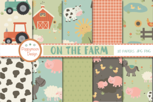 Print on Demand: On the Farm Paper Graphic Patterns By poppymoondesign