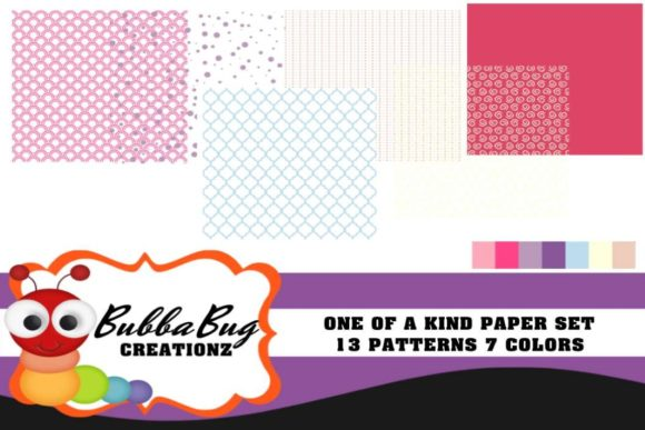 One of a Kind Paper Set Graphic Patterns By BUBBABUG