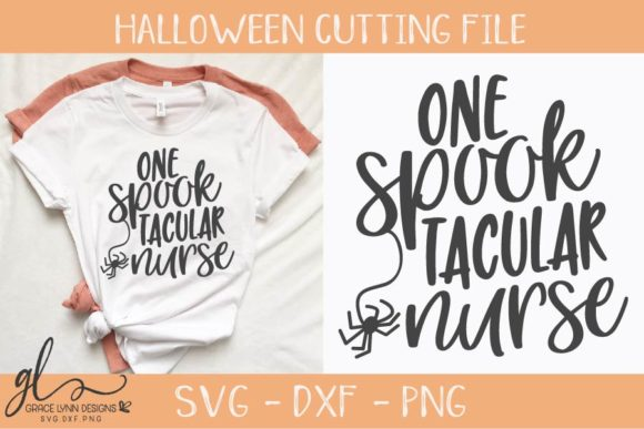Download Free One Spooktacular Nurse Graphic By Gracelynndesigns Creative for Cricut Explore, Silhouette and other cutting machines.