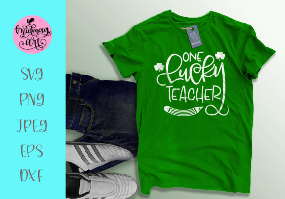 Download Free One Lucky Teacher Svg St Patrick S Day Svg Graphic By Midmagart for Cricut Explore, Silhouette and other cutting machines.