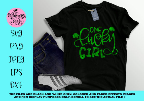 Download Free One Lucky Girl Svg St Patricks Day Svg Graphic By Midmagart for Cricut Explore, Silhouette and other cutting machines.