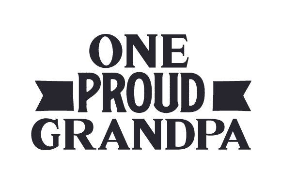 Download Free One Proud Grandpa Svg Cut File By Creative Fabrica Crafts for Cricut Explore, Silhouette and other cutting machines.