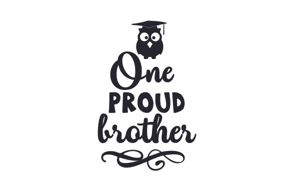 Download Free One Proud Brother Svg Cut File By Creative Fabrica Crafts for Cricut Explore, Silhouette and other cutting machines.