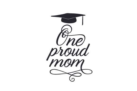 Download Free One Proud Mom Svg Cut File By Creative Fabrica Crafts Creative for Cricut Explore, Silhouette and other cutting machines.