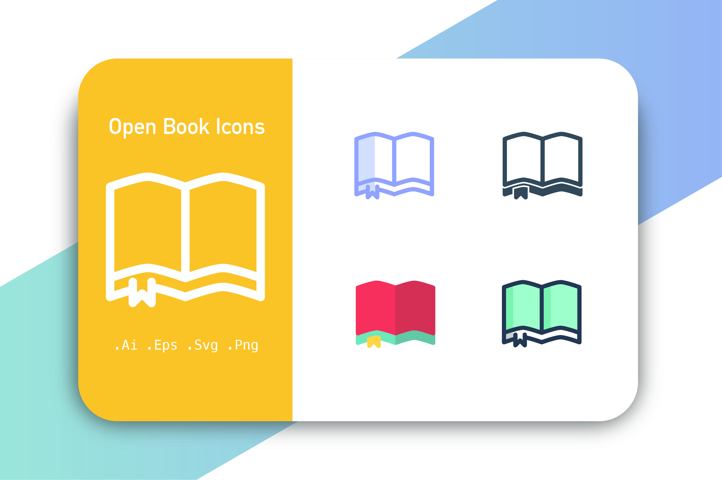 Download Free Open Book Icons Vector Graphic By Hellopixelzstudio Creative for Cricut Explore, Silhouette and other cutting machines.