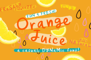 Orange Juice Font By Reg Silva Art Shop