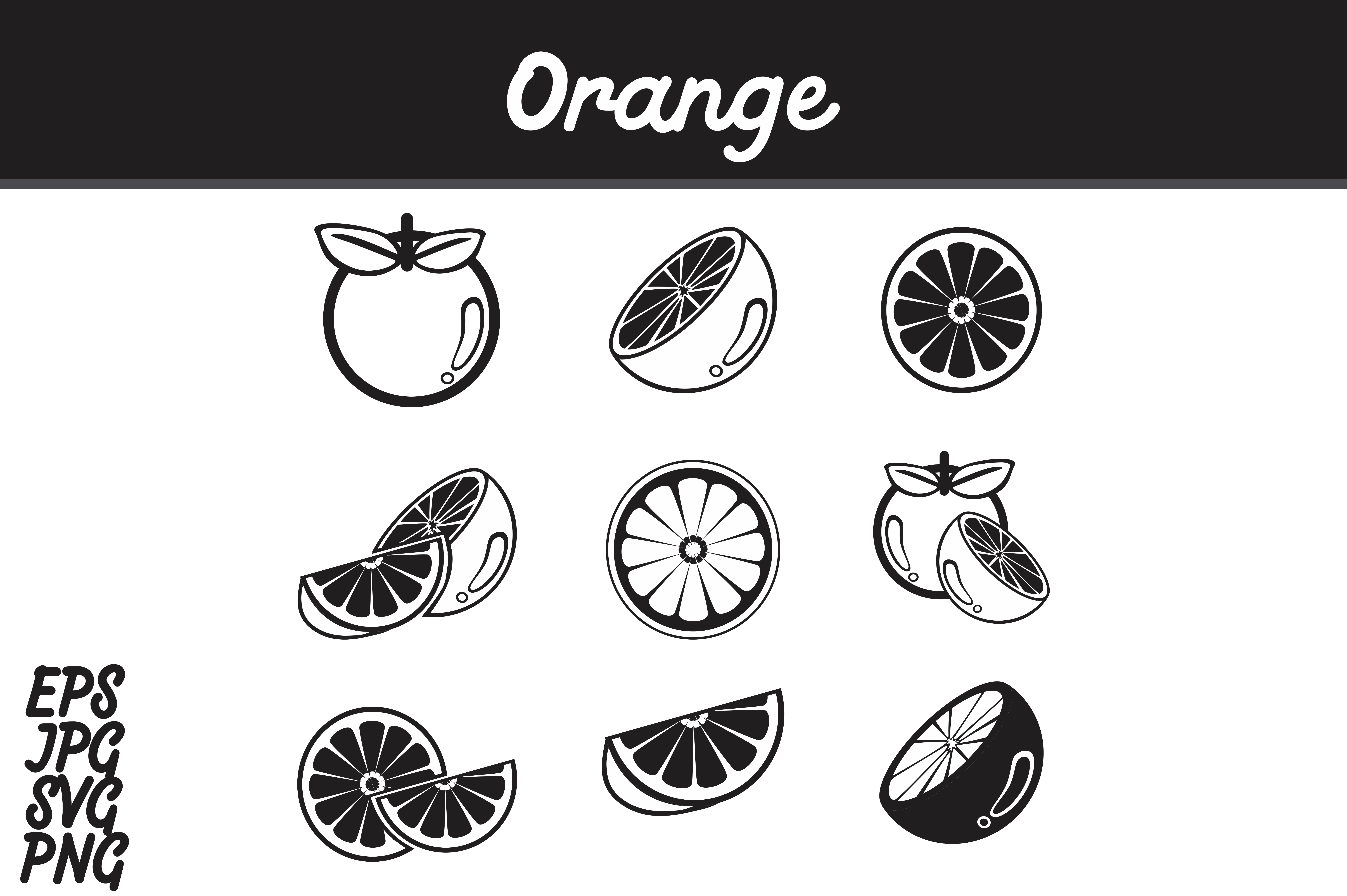 Download Free Orange Icon Set Svg Vector Image Bundle Graphic By Arief Sapta for Cricut Explore, Silhouette and other cutting machines.