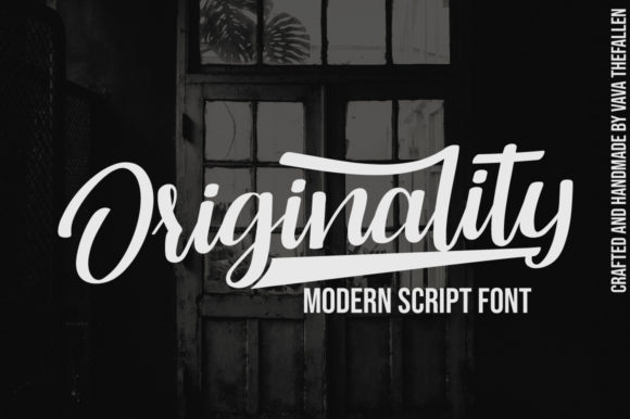 Print on Demand: Originality Script Font Script & Handwritten Font By Fallengraphic