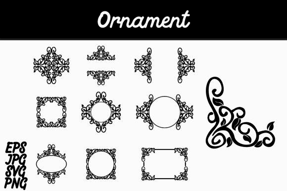 Download Free Ornament Set Svg Vector Image Bundle Graphic By Arief Sapta for Cricut Explore, Silhouette and other cutting machines.
