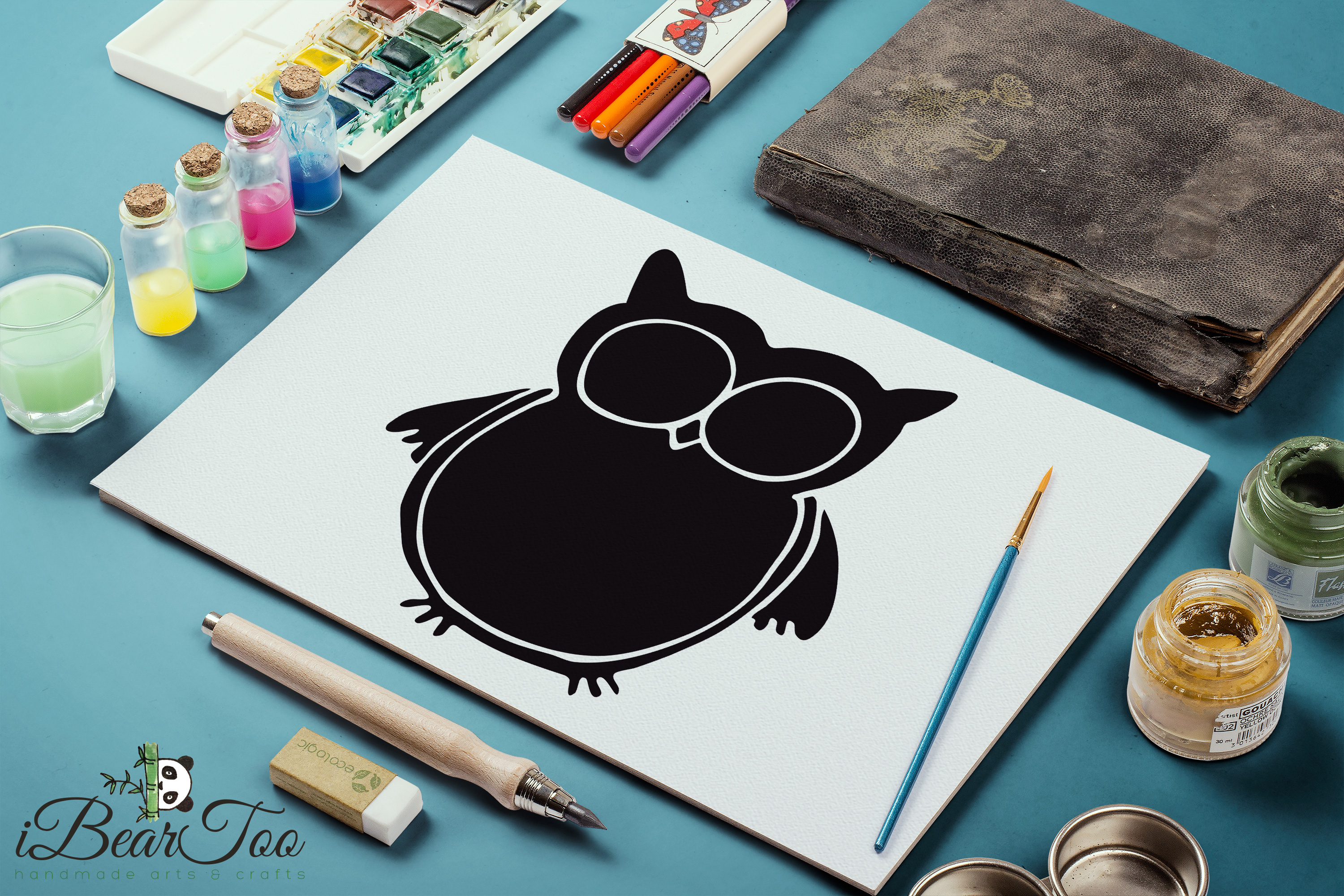 Download Free Owl Clipart Vector Graphic By Ibeartoo Creative Fabrica SVG Cut Files