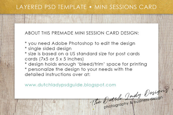 Download Free Psd Spring Mini Photo Session Card Template Graphic By for Cricut Explore, Silhouette and other cutting machines.