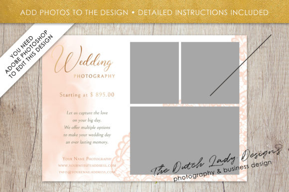 Download Free Psd Wedding Photo Session Card Template Graphic By for Cricut Explore, Silhouette and other cutting machines.