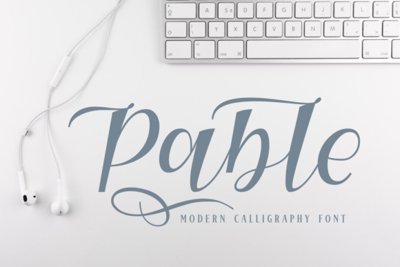 Print on Demand: Pable Script & Handwritten Font By Rifki (7ntypes)
