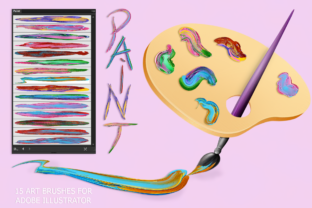 Download Free Paint Brushes For Illustrator Graphic By Faerydesign Creative for Cricut Explore, Silhouette and other cutting machines.