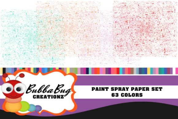 Paint Spray Paper Set Graphic Patterns By BUBBABUG