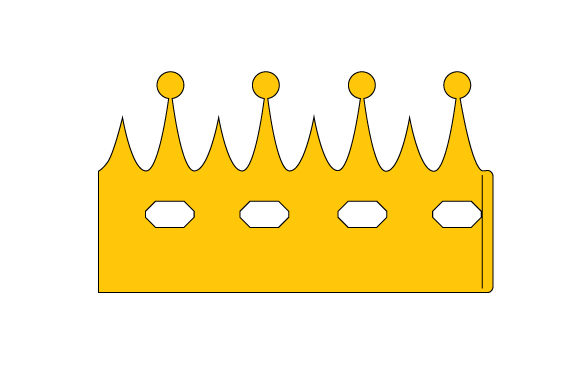 Paper Crown Birthday Craft Cut File By Creative Fabrica Crafts