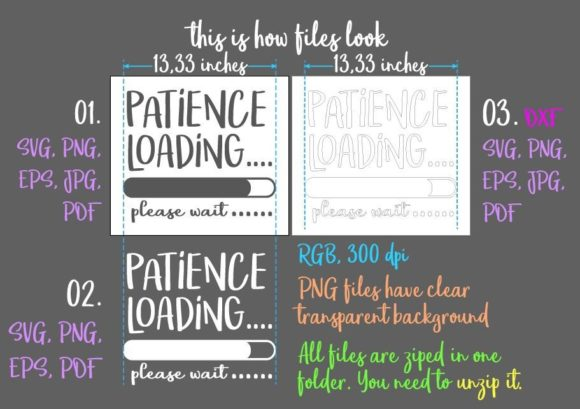 Patience Loading Svg Graphic By Digitals By Hanna Creative Fabrica