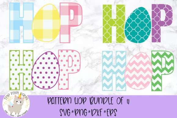 Download Free Pattern Hop Easter Svg Grafico Por The Pixel Llama Creative for Cricut Explore, Silhouette and other cutting machines.