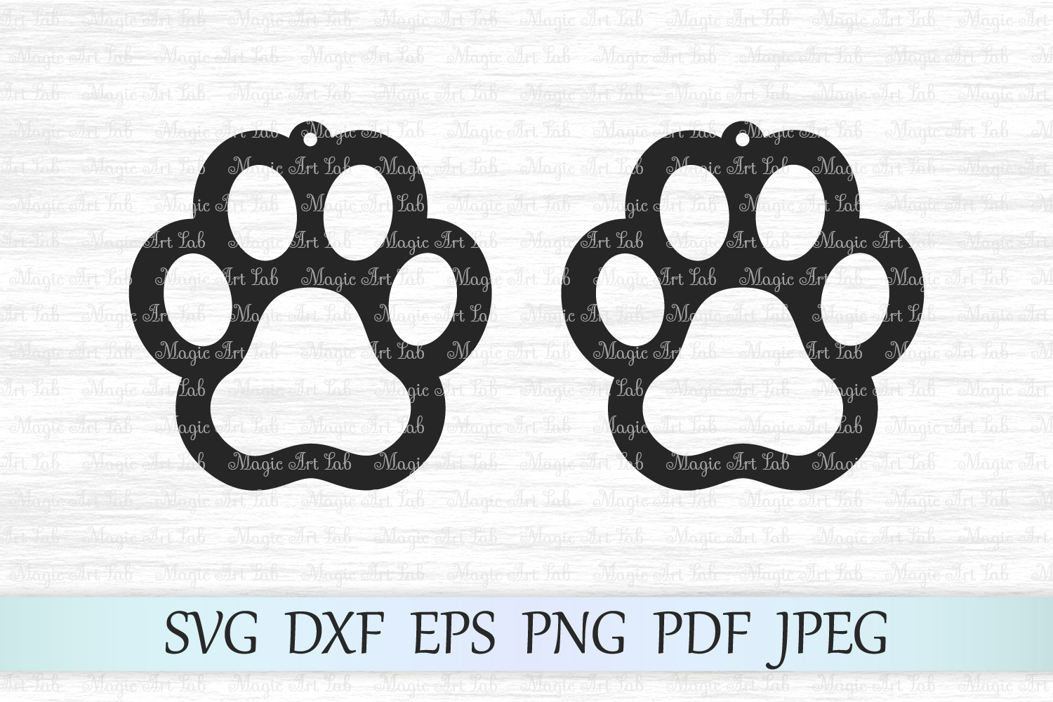 Paw Earrings Svgs Graphic By Magicartlab Creative Fabrica