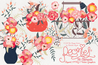 Peonies Clipart Graphic By Michelle Alzola