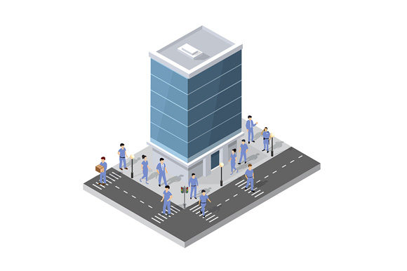 Print on Demand: People Walking Around the City Graphic Illustrations By AlexZel