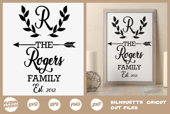 Download Free Personalized Family Monogram Svg Graphic By Robinbobbindesign for Cricut Explore, Silhouette and other cutting machines.