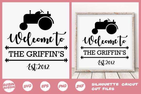 Print on Demand: Personalized Farmhouse Family Poster Graphic Crafts By RobinBobbinDesign