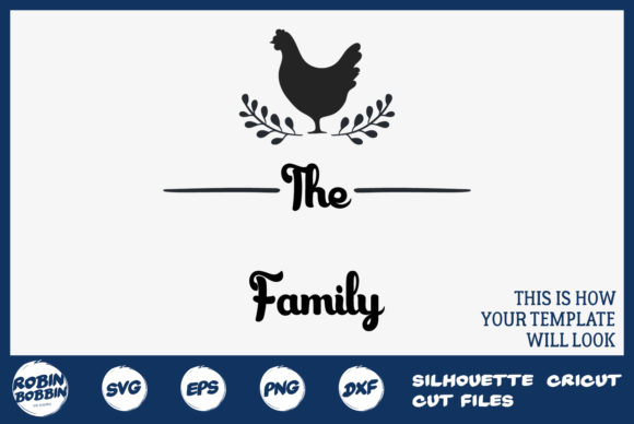 Print on Demand: Personalized Farmhouse Family Sign Graphic Crafts By RobinBobbinDesign - Image 2