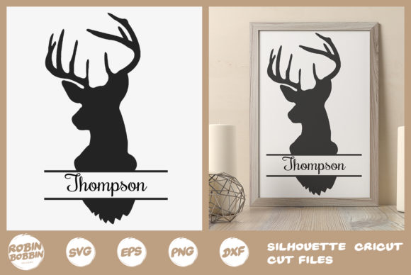 Print on Demand: Personalized Home Poster with Deer Graphic Crafts By RobinBobbinDesign