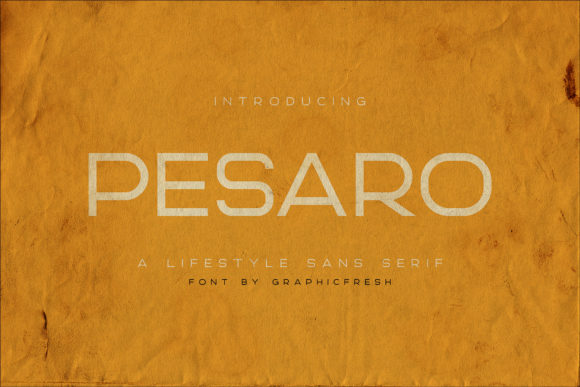 Print on Demand: Pesaro Sans Serif Font By Sameeh Media