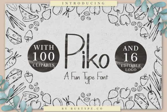 Print on Demand: Piko Display Font By Rustype
