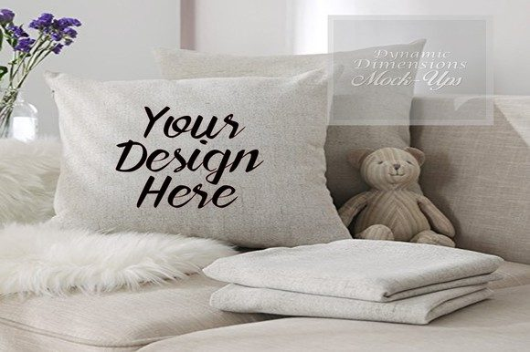 Print on Demand: Pillow Mockup Graphic Product Mockups By dynamicdimensions