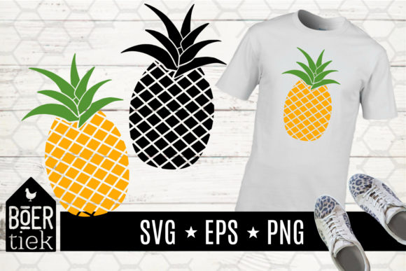 Download Free Pineapple Graphic By Boertiek Creative Fabrica for Cricut Explore, Silhouette and other cutting machines.