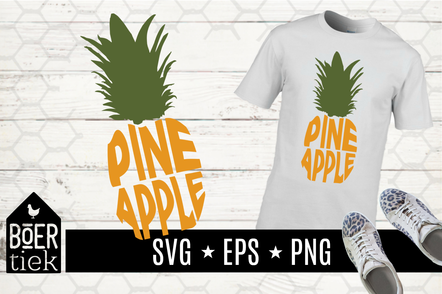 Download Free Pineapple With Word In It Svg Cutting File Graphic By Boertiek for Cricut Explore, Silhouette and other cutting machines.