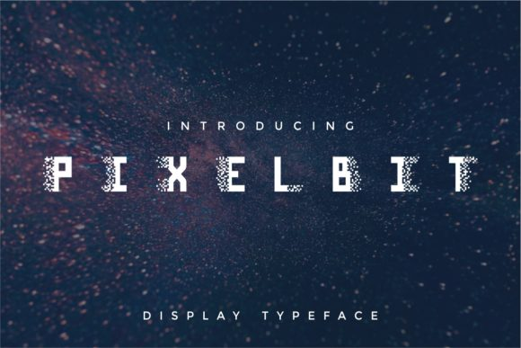 Pixel Bit Typeface Display Font By putracetol