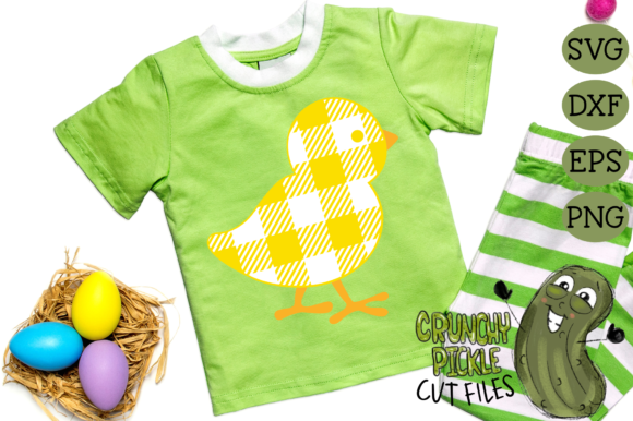 Download Free Plaid Grunge Baby Chick Easter Spring Graphic By Crunchy for Cricut Explore, Silhouette and other cutting machines.