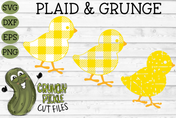 Plaid & Grunge Baby Chick Easter / Spring Graphic Crafts By Crunchy Pickle