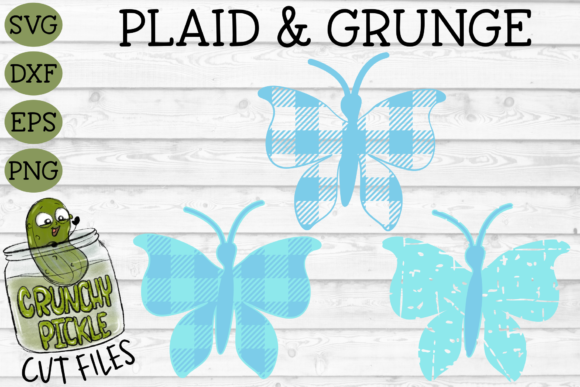 Plaid & Grunge Butterfly 1 Graphic Crafts By Crunchy Pickle