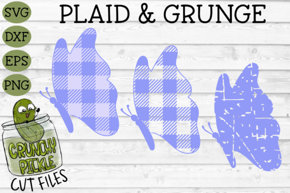 Plaid & Grunge Butterfly 2 Graphic Crafts By Crunchy Pickle