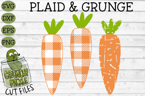 Download Free Plaid Grunge Carrot Easter Spring Graphic By Crunchy Pickle for Cricut Explore, Silhouette and other cutting machines.