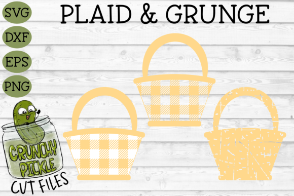 Plaid & Grunge Easter / Spring Flower Basket Graphic Crafts By Crunchy Pickle
