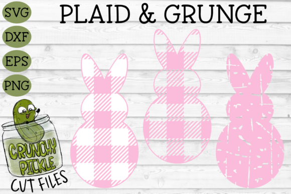 Plaid & Grunge Spring Easter Bunny 1 Graphic Crafts By Crunchy Pickle
