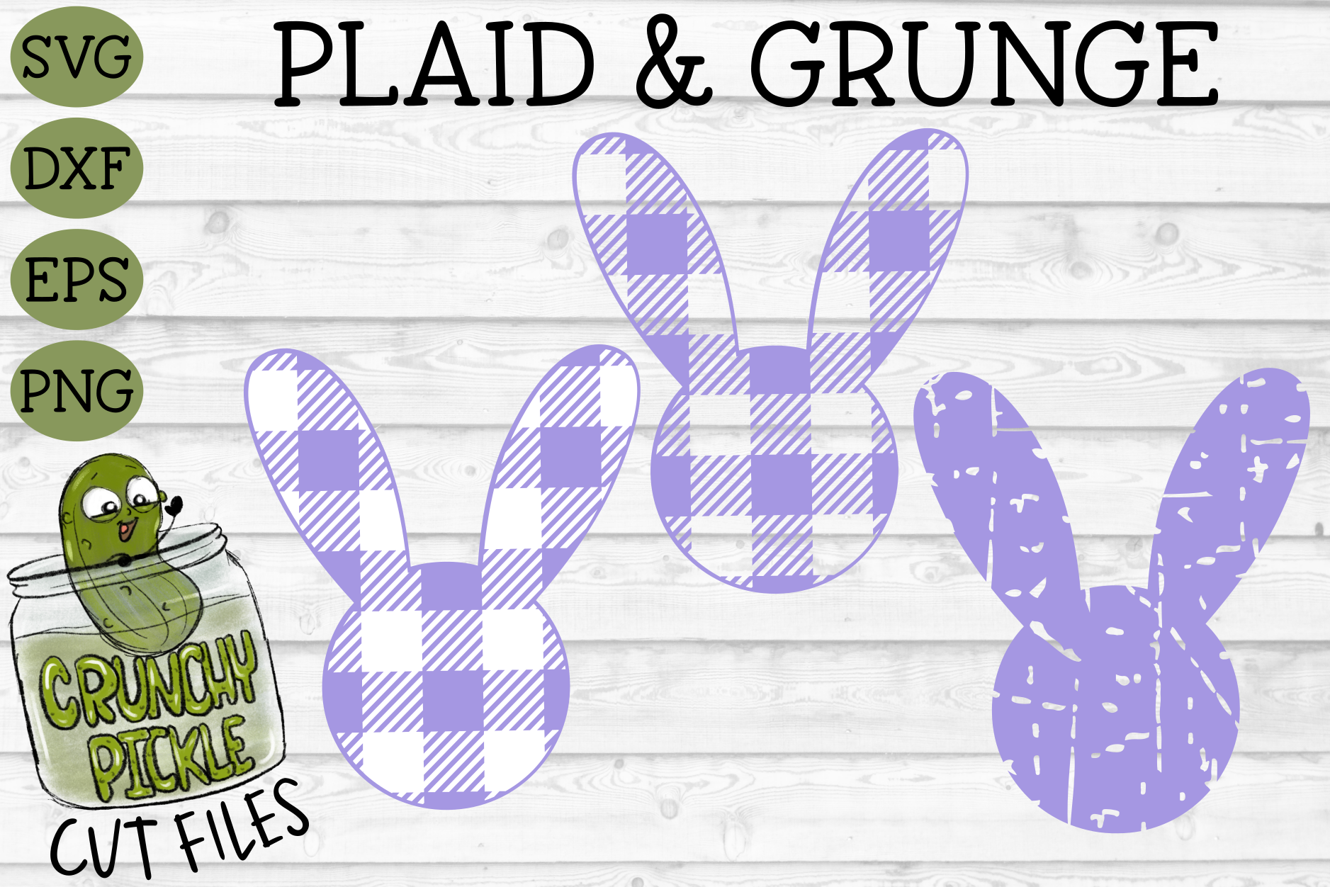 Download Free Plaid Grunge Spring Easter Bunny 2 Graphic By Crunchy Pickle for Cricut Explore, Silhouette and other cutting machines.