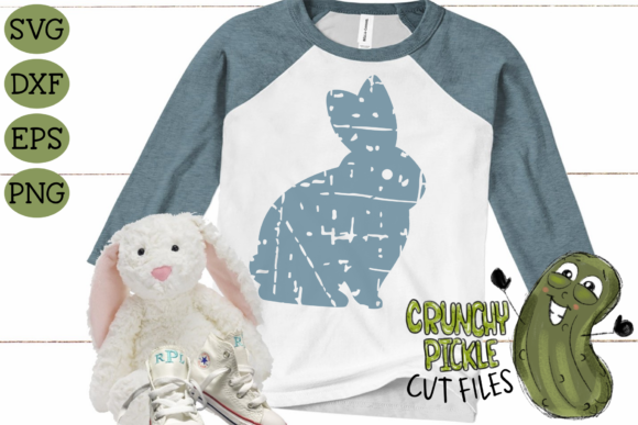 Download Free Plaid Grunge Spring Easter Bunny 3 Graphic By Crunchy Pickle for Cricut Explore, Silhouette and other cutting machines.