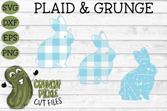 Plaid & Grunge Spring Easter Bunny 3 Graphic Crafts By Crunchy Pickle