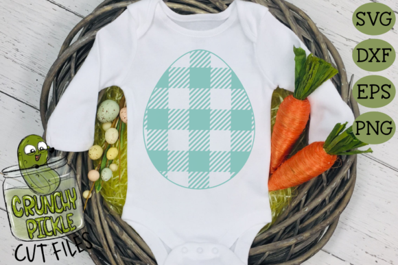 Plaid & Grunge Spring Easter Egg Graphic Crafts By Crunchy Pickle - Image 2